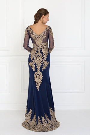 Long sleeve evening gown gls 1597-Simply Fab Dress