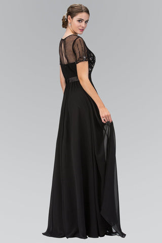 Long sleeve black evening gown gls 2042-Simply Fab Dress