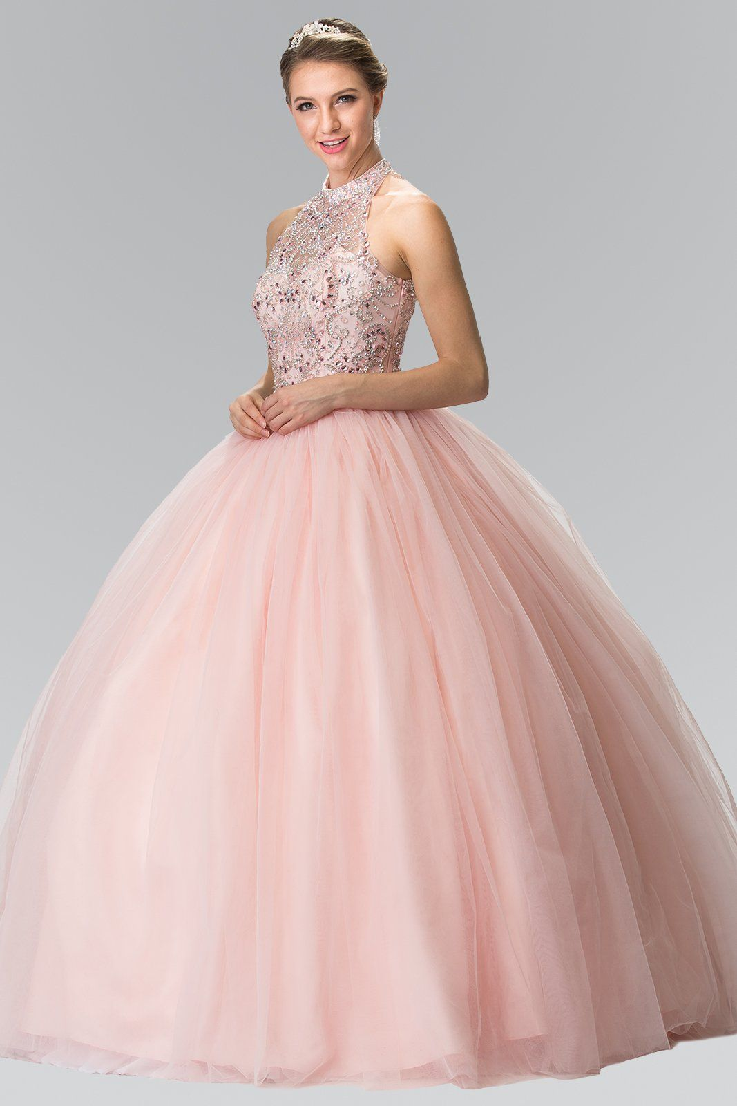 Blush Pink Quinceanera Dress GLS 2206-Simply Fab Dress