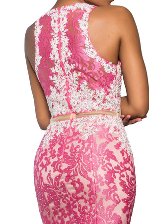 Lace two piece prom dress gls 2271-Simply Fab Dress