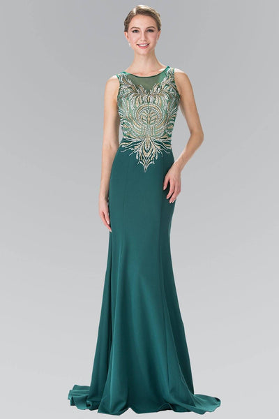 Emerald green prom dress gls 2323-Simply Fab Dress