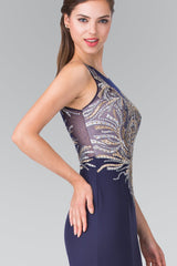 Sparkly navy prom dress gls 2323-Simply Fab Dress