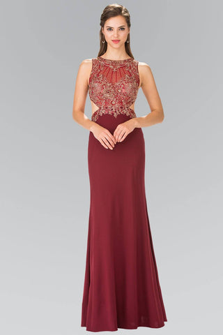 Long red prom dress  gls 1361