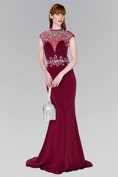 Burgundy evening dress gls 2426-Simply Fab Dress
