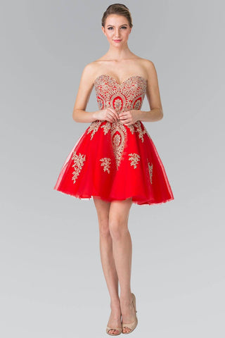 916887a058 Short Red Homecoming Dress-Simply Fab Dress