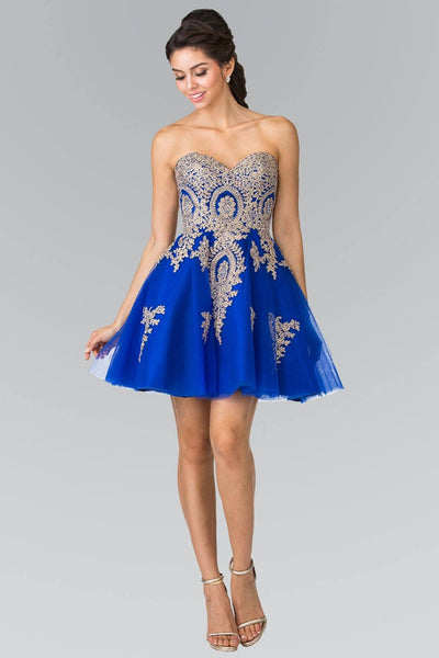 Royal blue short homecoming dress #gs2371-Simply Fab Dress