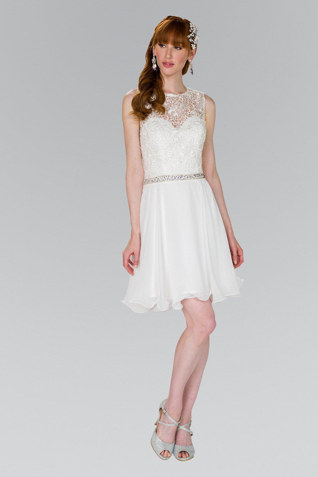 Short white formal dress GS2410-Simply Fab Dress