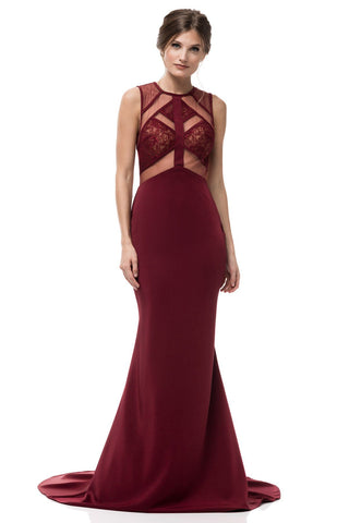 sexy burgundy formal dress #AN949-Simply Fab Dress