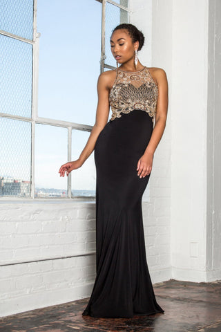 Black evening gown gls1303-Simply Fab Dress