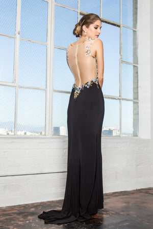 Black evening dress gls 1402-Simply Fab Dress