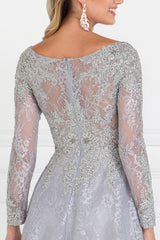 Long sleeve lace evening dress gls 1537-Simply Fab Dress