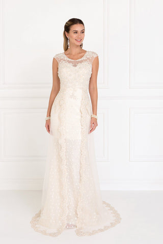 Ivory informal wedding dress gls 1539-Simply Fab Dress