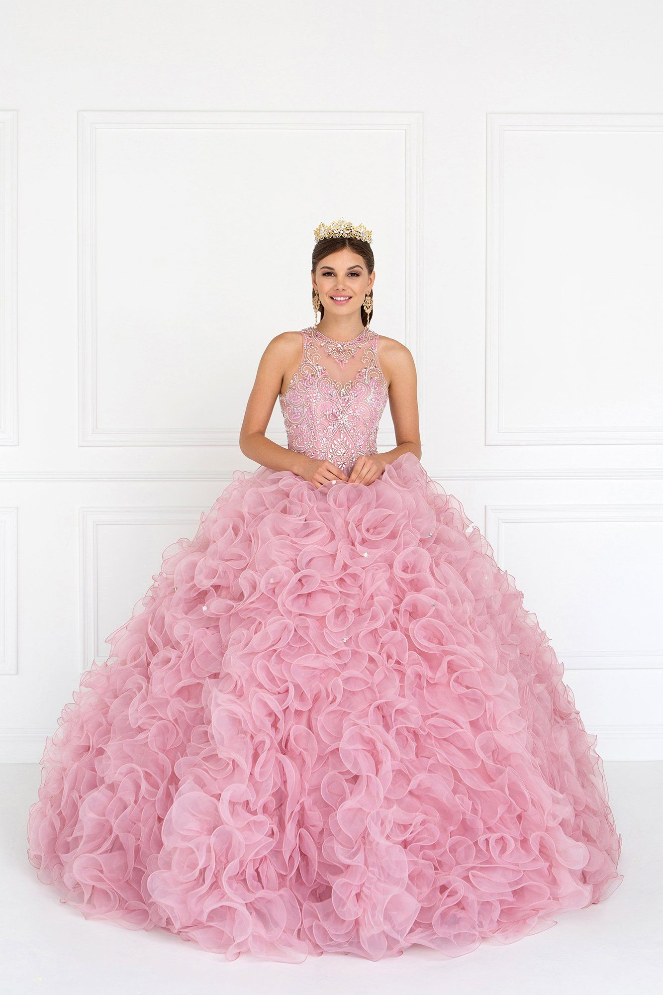 Fashion week Dresses quinceanera puffy pink for woman