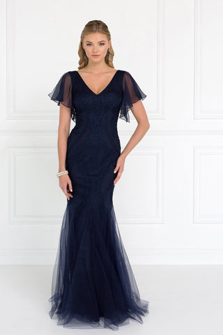 cca9df6205d Navy evening gown with sleeves gls 1576-Simply Fab Dress