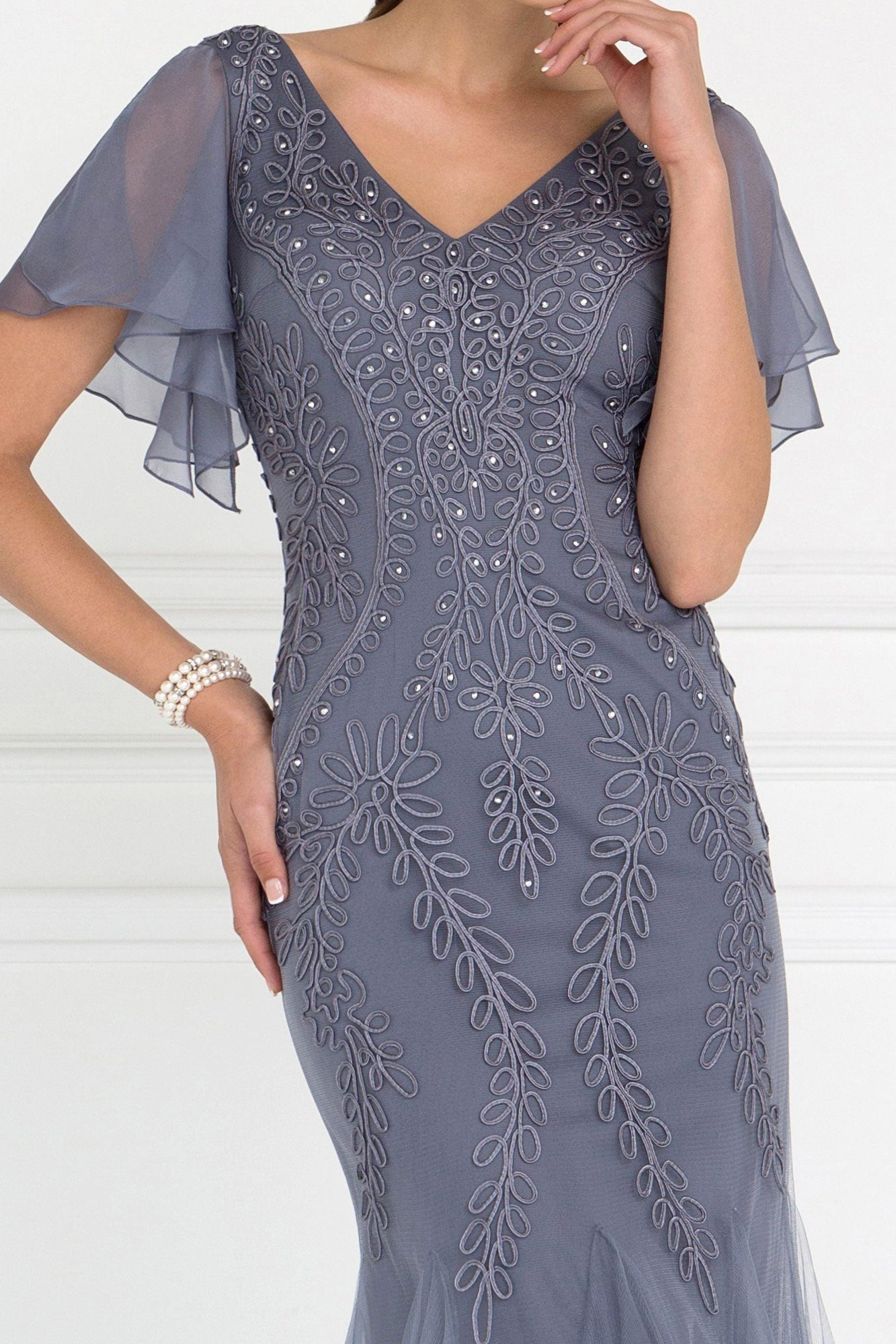 Long evening gown with sleeves gls 1576-Simply Fab Dress