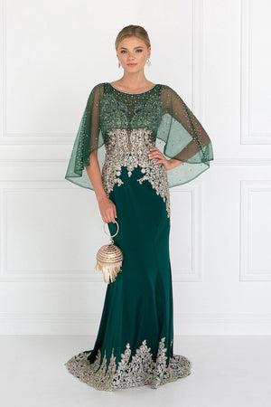 long evening gown with sleeves gls 1595-Simply Fab Dress