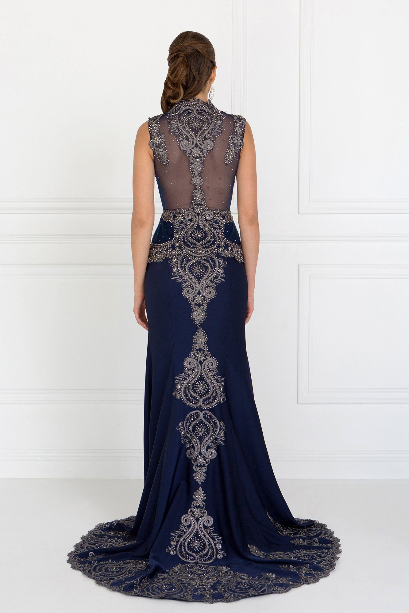 Elegant evening gown with lace gls 1598 – Simply Fab Dress
