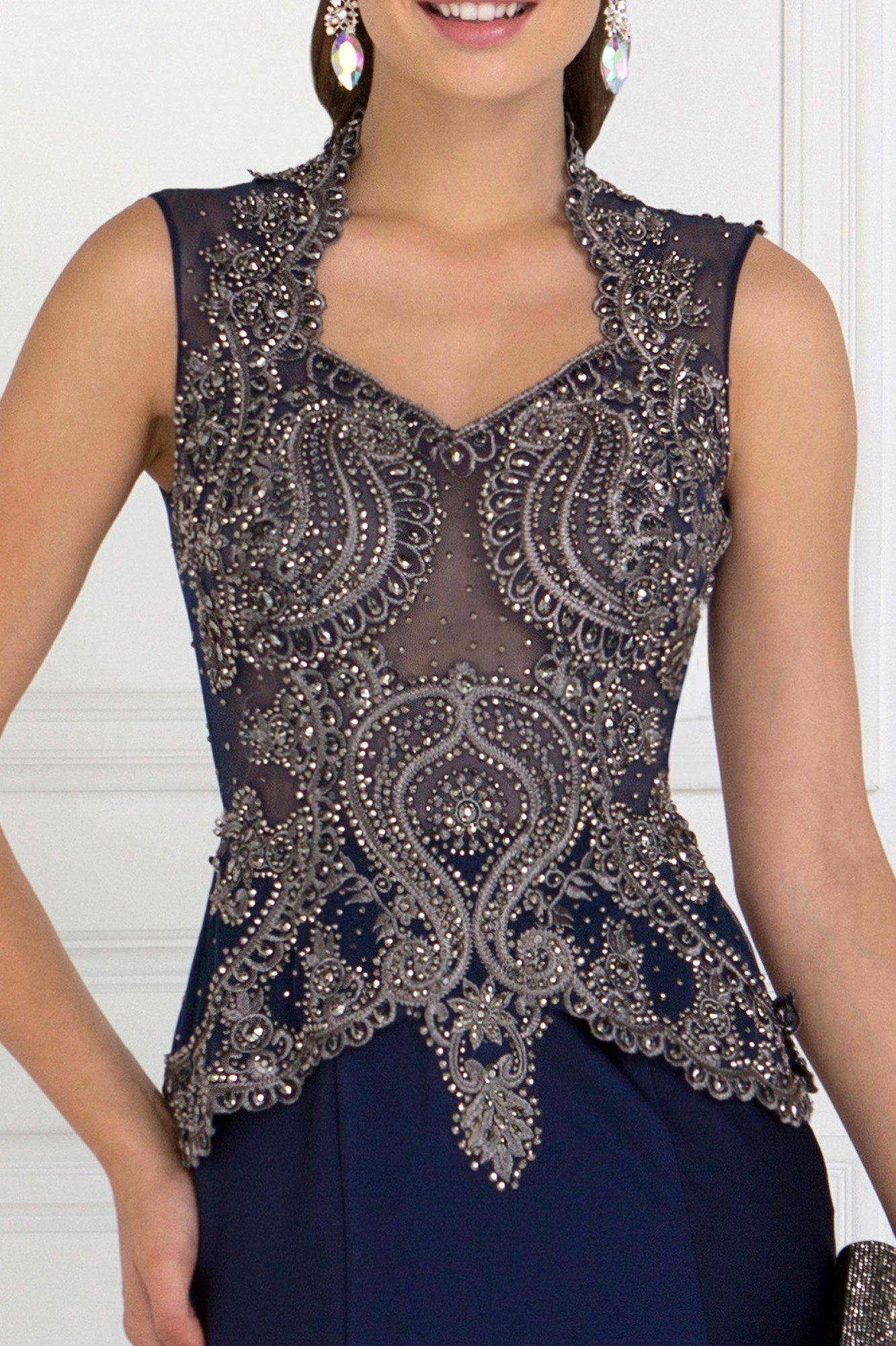 8d0ef55822 ... Elegant evening gown with lace gls 1598-Simply Fab Dress ...