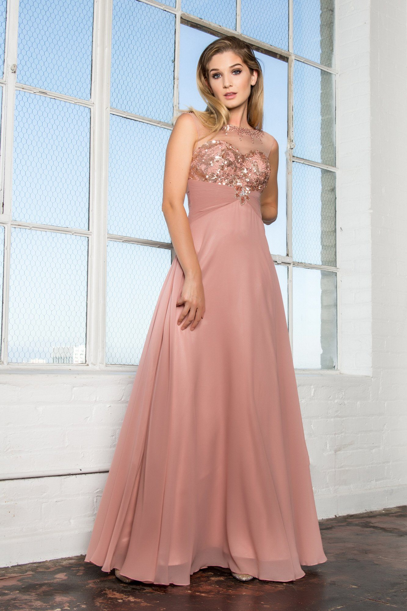 Flowy affordable prom dress gls 2085 – Simply Fab Dress