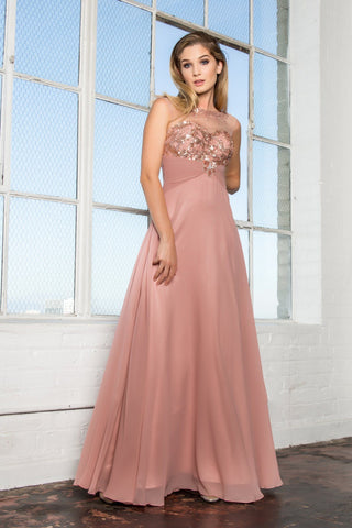 Sexy gown with slit   BC#cp8073