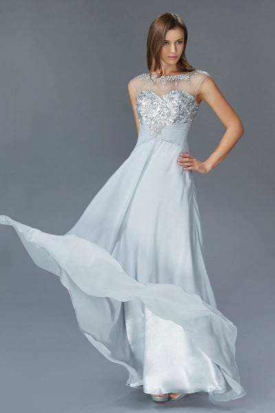 Silver evening gown gls 2085-Simply Fab Dress