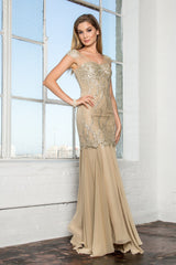 Gold mermaid prom dress gls 2123-Simply Fab Dress