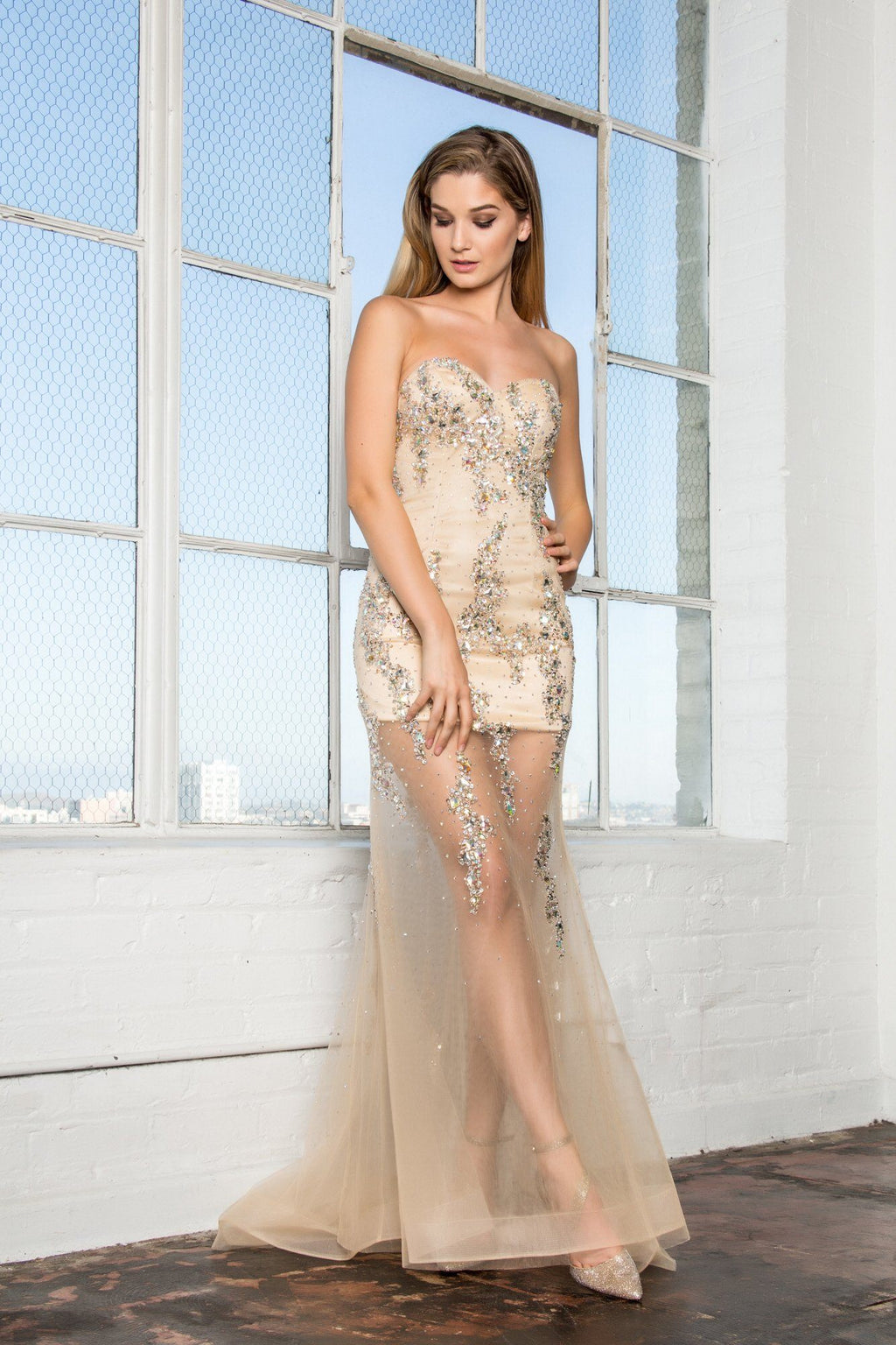 Sparkling mermaid formal dress GL2152