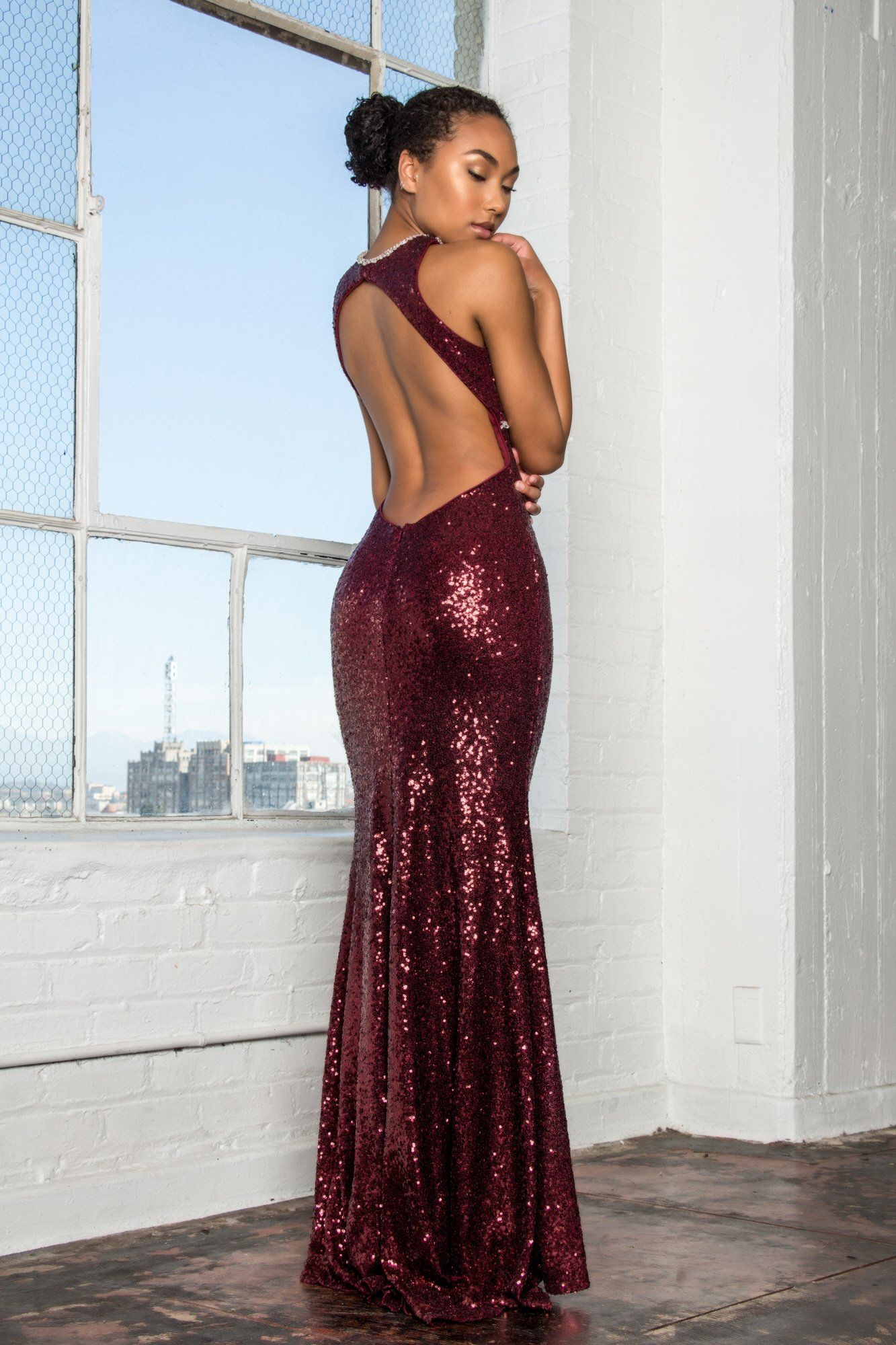 ea9dff22e5a0 ... Sexy Sequin burgundy evening gown Gls 2217-Simply Fab Dress ...