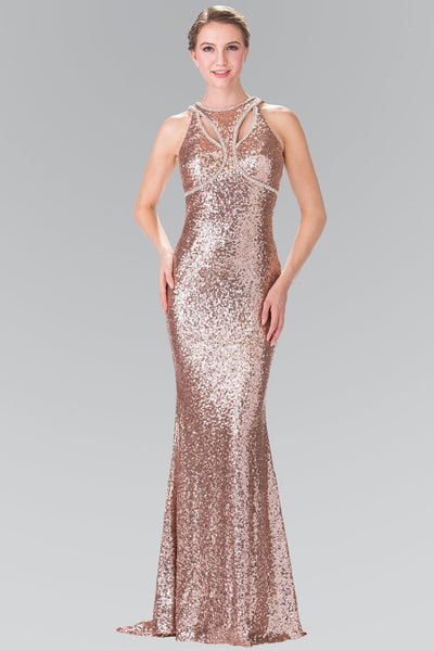 Sequin open back prom dress Gls 2217 – Simply Fab Dress