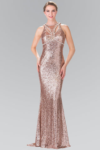 52d5d90ead Sequin open back prom dress Gls 2217-Simply Fab Dress