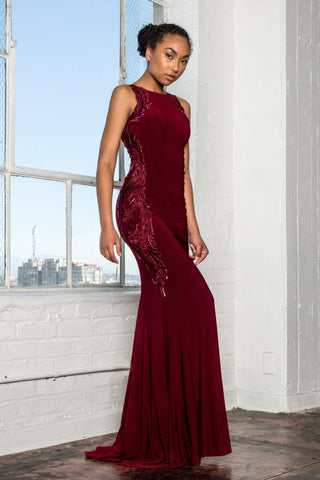 Off the shoulder formal dress  #BC SL17420