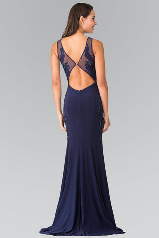 Navy long formal dress gls 2222-Simply Fab Dress