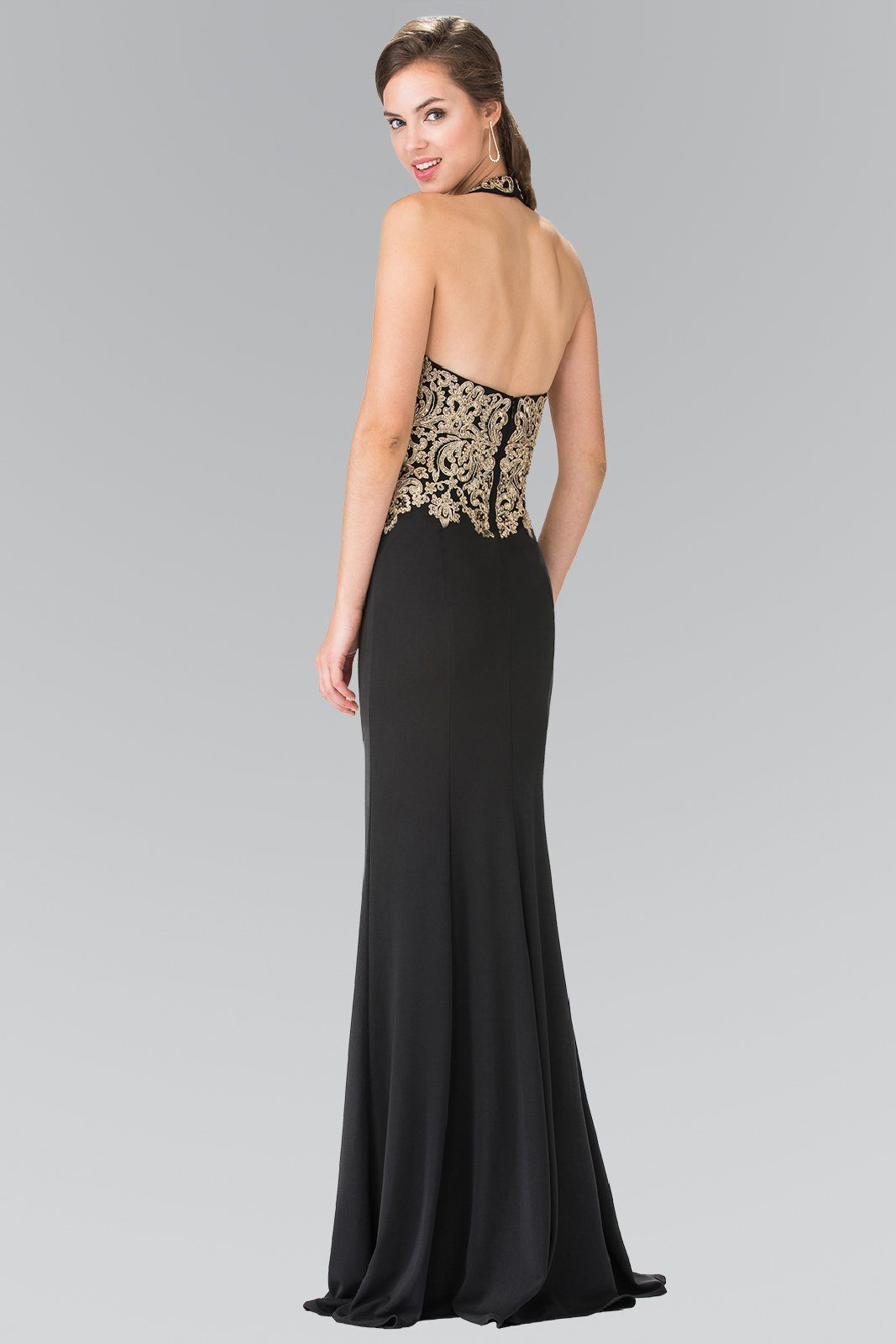 Black and gold prom dress gls 2231 – Simply Fab Dress