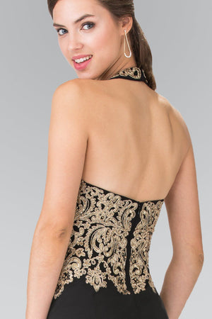 Black and gold prom dress gls 2231-Simply Fab Dress