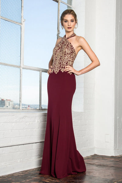 Burgundy prom dress gls 2231-Simply Fab Dress