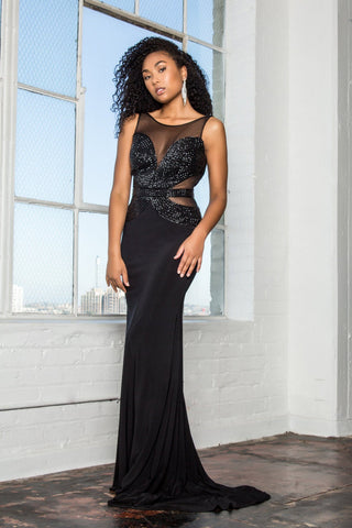 66d3e4acea0 Open black prom dress gls 2234-Simply Fab Dress