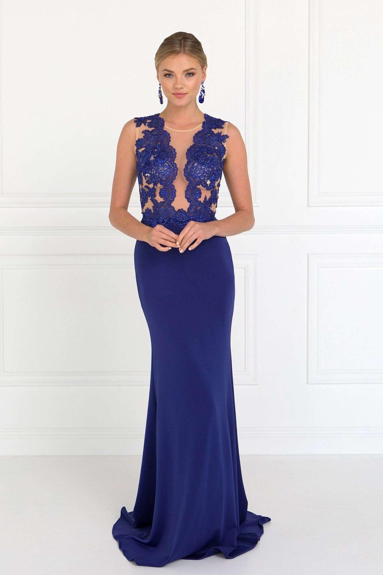 hot-selling real clear and distinctive san francisco Sexy royal blue evening gown gls 2286