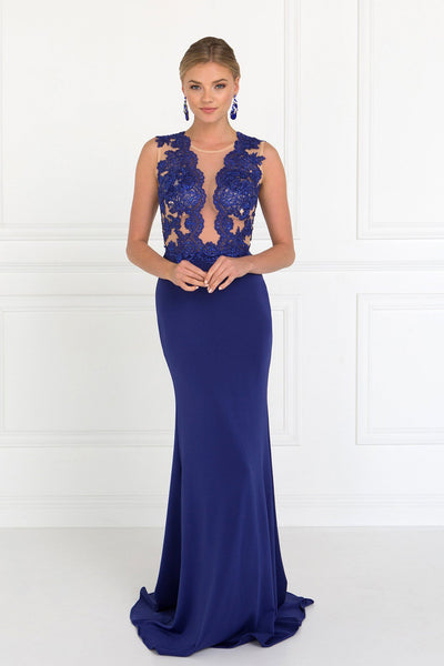 Sexy royal blue evening gown gls 2286-Simply Fab Dress
