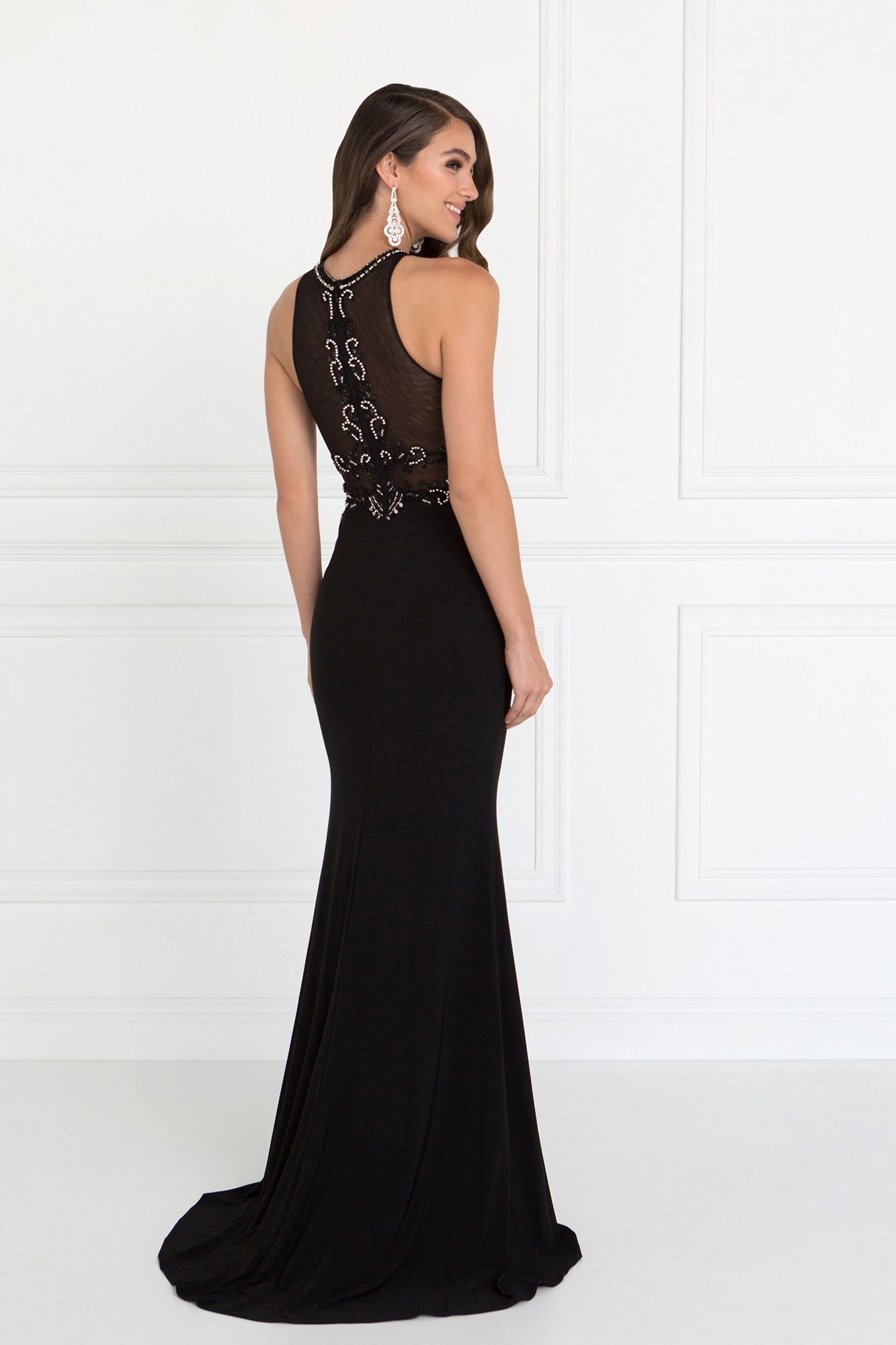 5f5e9d3adc ... Long black evening gown gls 2298-Simply Fab Dress