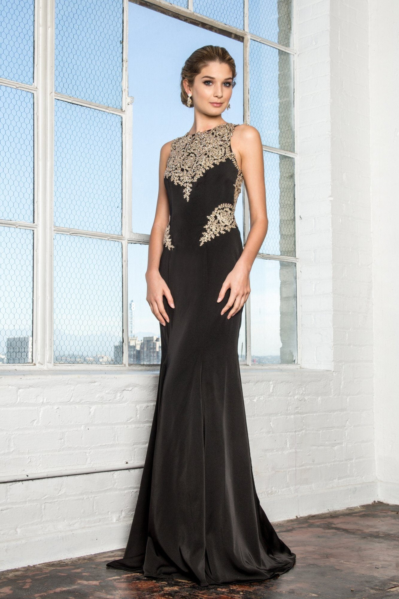 Black and gold prom dress gls 2312 – Simply Fab Dress