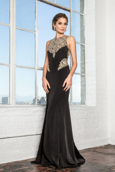 Black and gold prom dress gls 2312-Simply Fab Dress