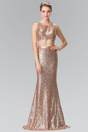 Sequin two piece prom dress gls 2333-Simply Fab Dress