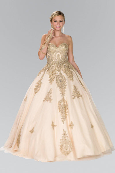 Champagne gold quinceanera dress gls 2379-Simply Fab Dress
