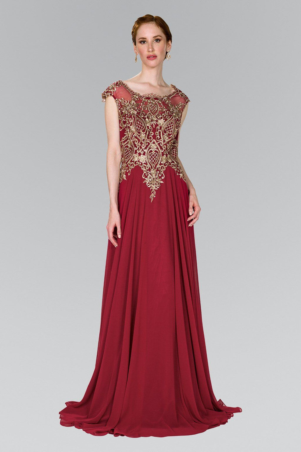 Burgundy evening dress gls 2407-Simply Fab Dress