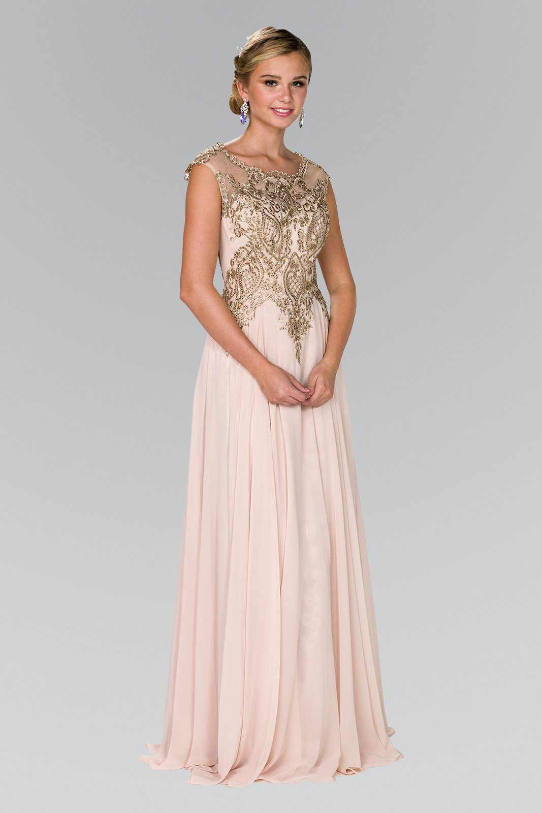 Champagne evening gown gls 2407 – Simply Fab Dress