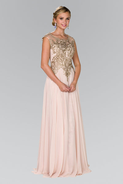 Champagne evening gown gls 2407-Simply Fab Dress