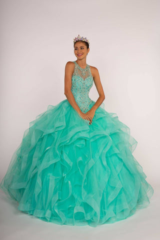 Navy blue quinceanera dress  GLS 1552