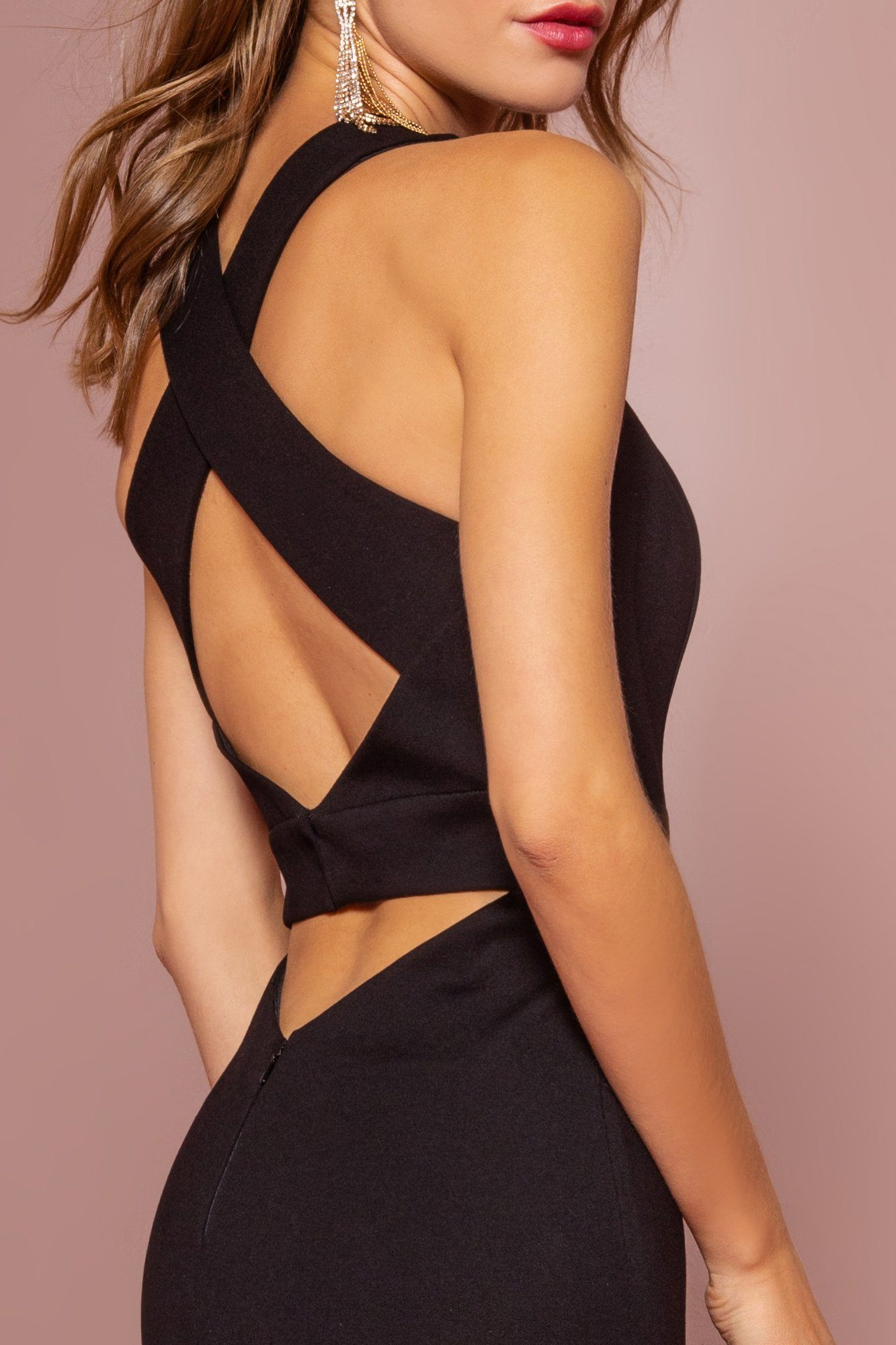 Tight black prom dress gls 2706-Simply Fab Dress
