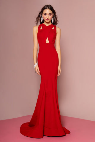 Long red formal dress  gls 1357