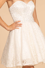 White homecoming dress GS1611W-Simply Fab Dress